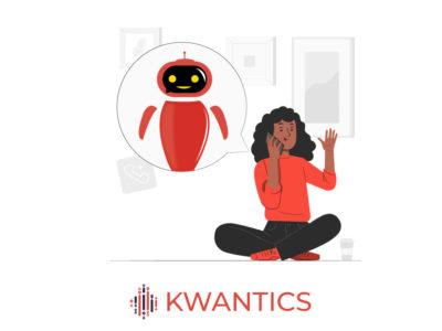 Voicebot talking to woman